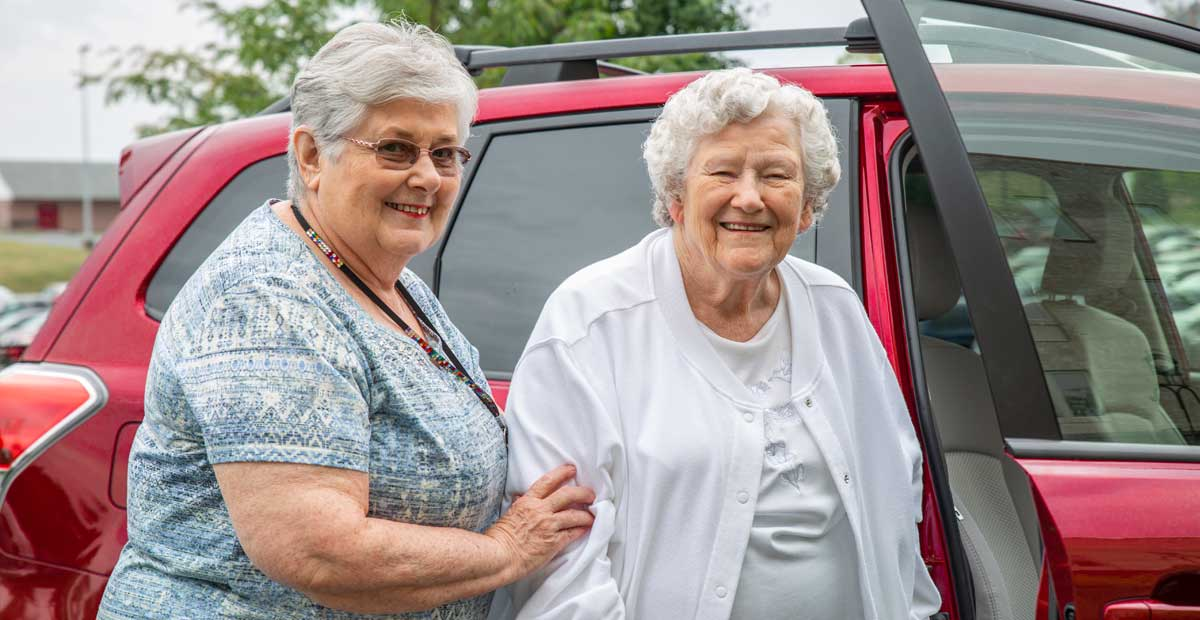 Home Care helping with transportation
